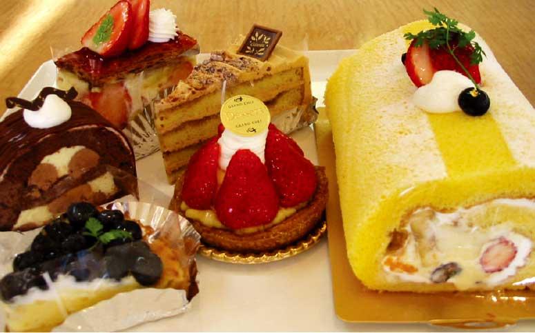 オリジナルケーキトロイカの各種ケーキ