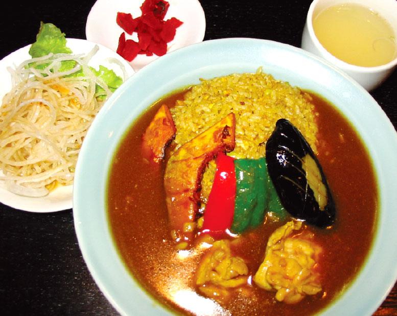 中国料理廣河の野菜スープカレーチャーハン
