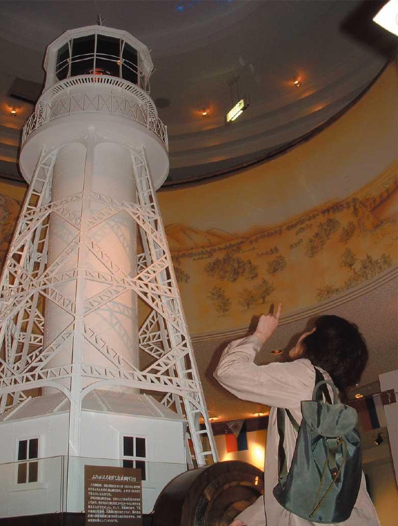 ピリカン館内にある灯台の模型