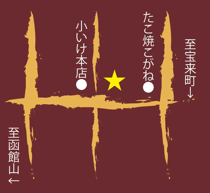 鶴乃餅周辺地図
