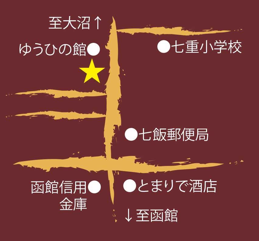 喜夢良菓子舗周辺地図