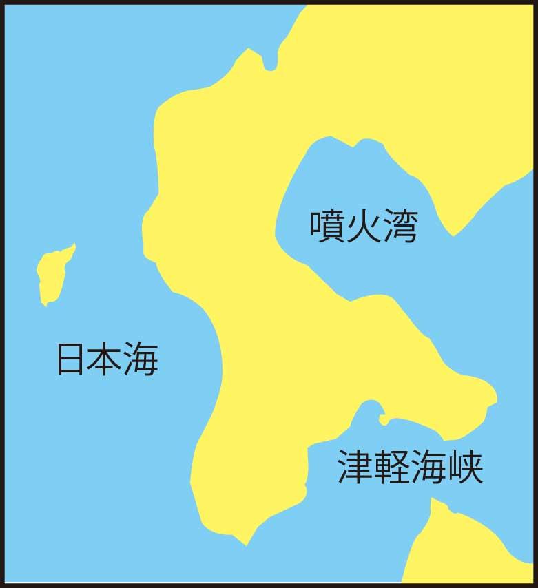 道南地方の地図
