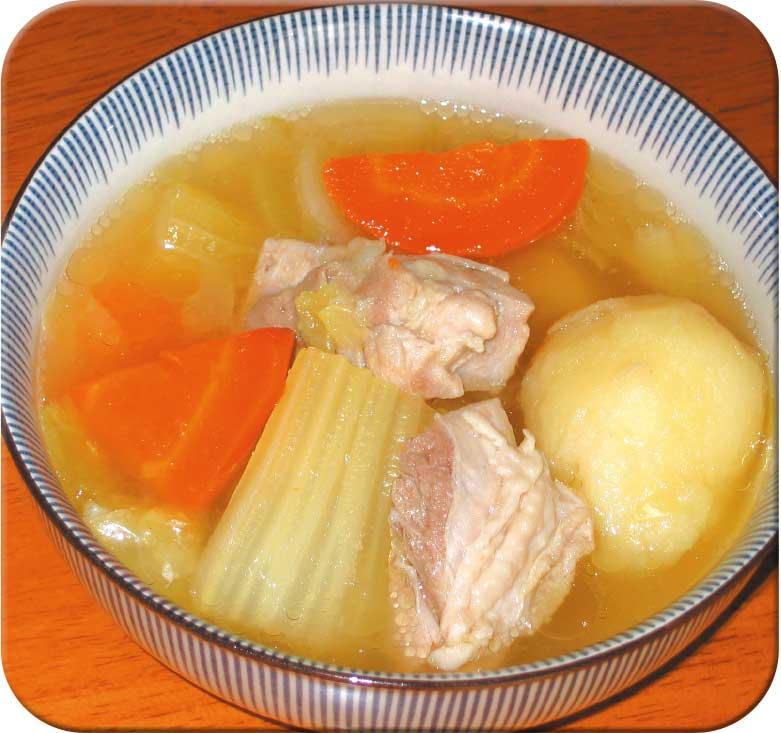 大きめ野菜のスープ