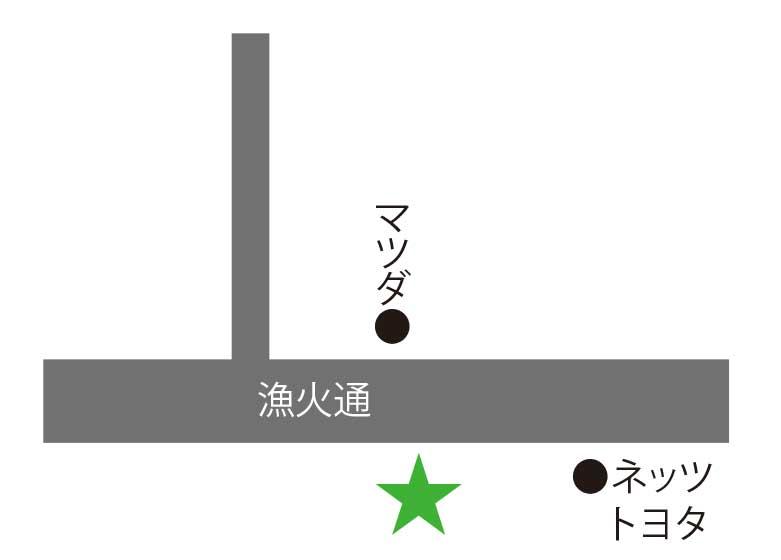 函館甲羅本店周辺地図