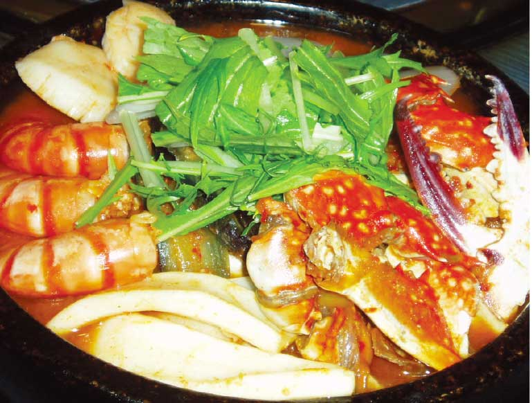 麺S廣河ヌードル&焼肉大昌園の海鮮チゲ