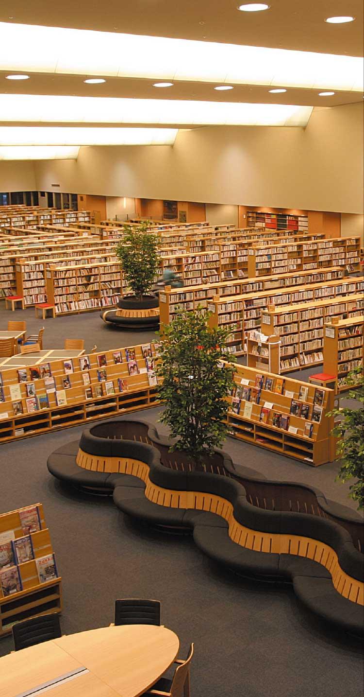 函館中央図書館館内