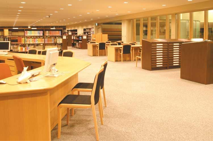 函館中央図書館レファレンスコーナー