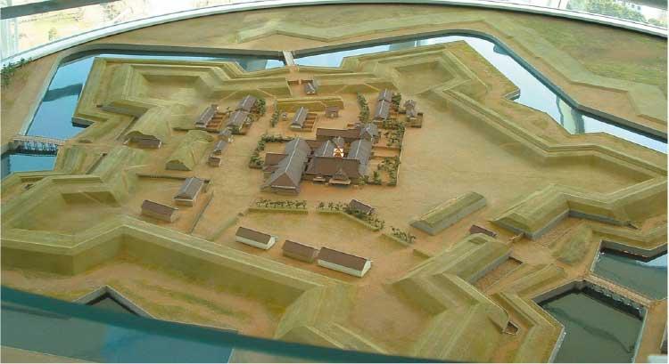 五稜郭公園の模型