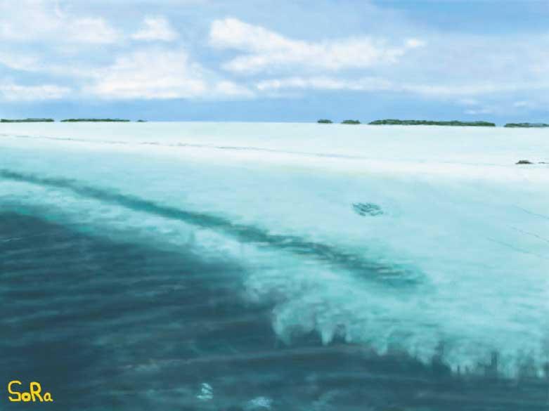 工藤靖也さんが描いた海
