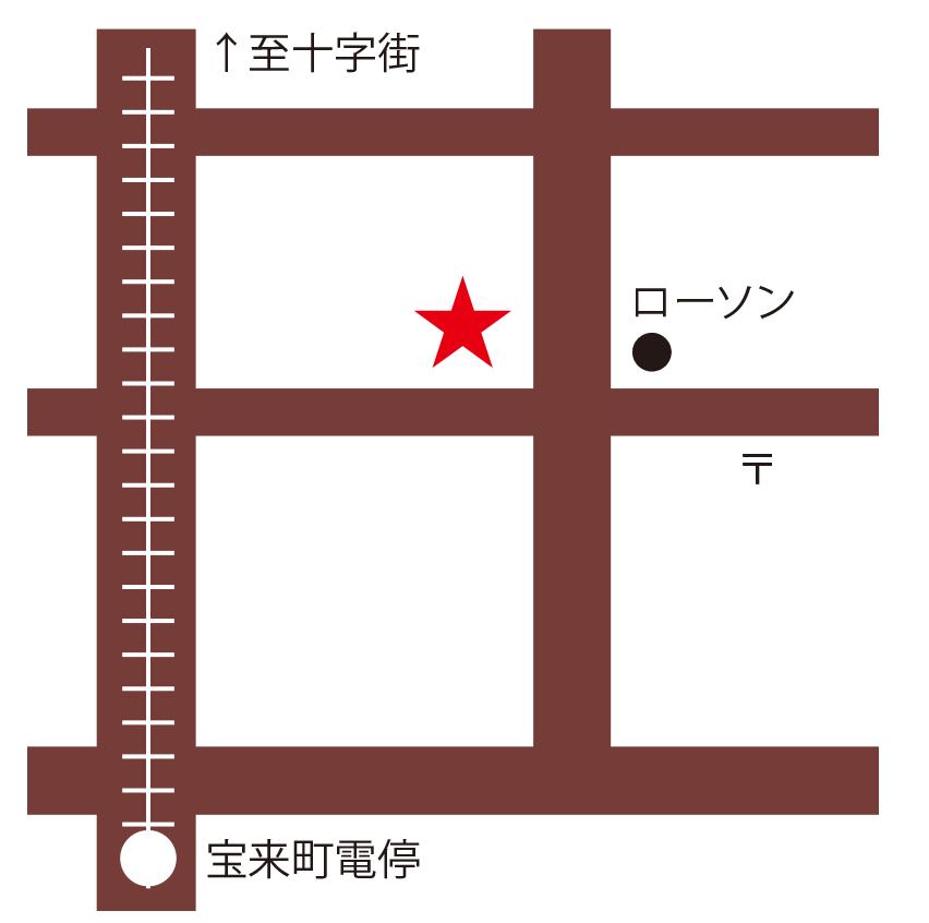 カプリチョーザ周辺地図