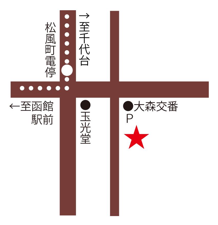 トラットリア・メルカート周辺地図