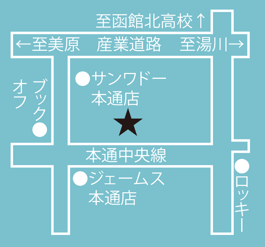 コーヒーショップ舞周辺地図