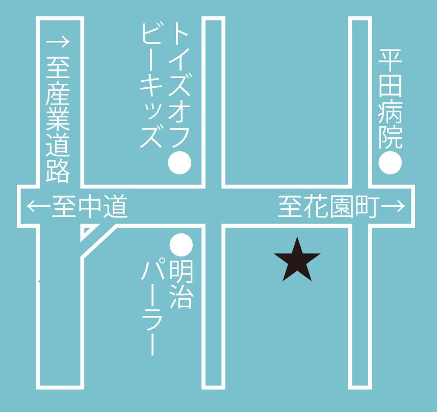 千秋庵総本家本通店周辺地図