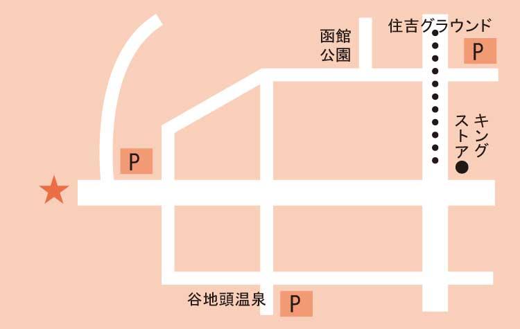 函館八幡宮周辺地図