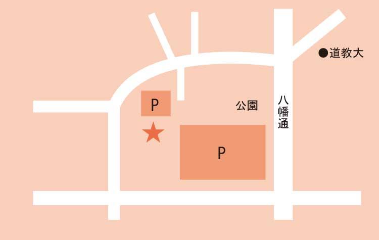 亀田八幡宮周辺地図