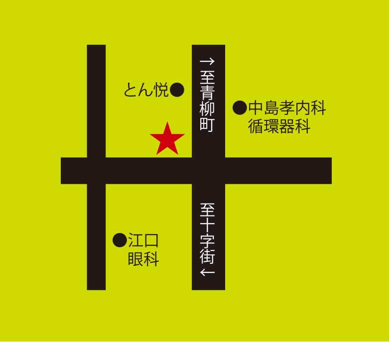 中国屋台うじうじ飯店周辺地図