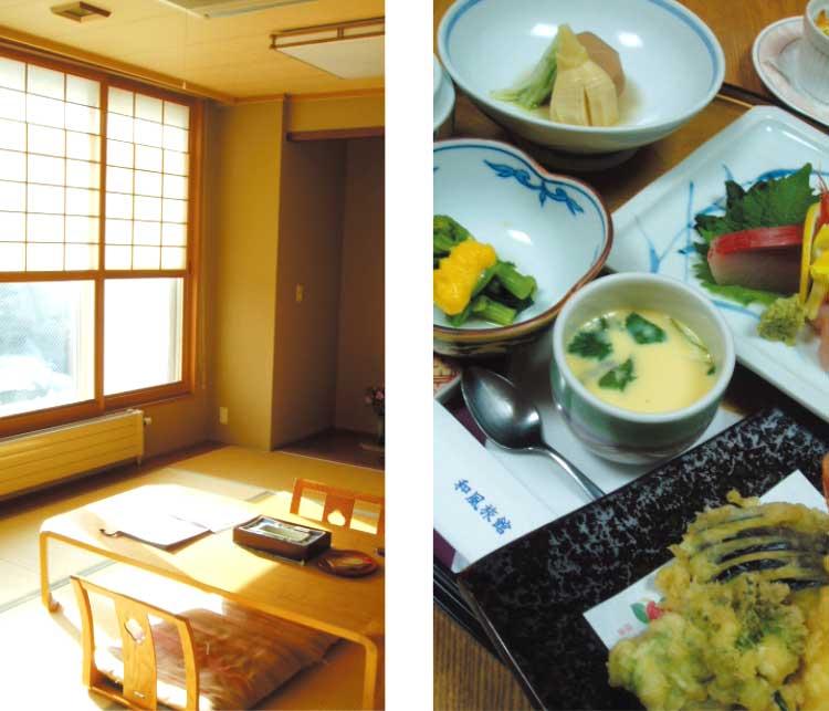 旭川扇松園の部屋と夜食料理