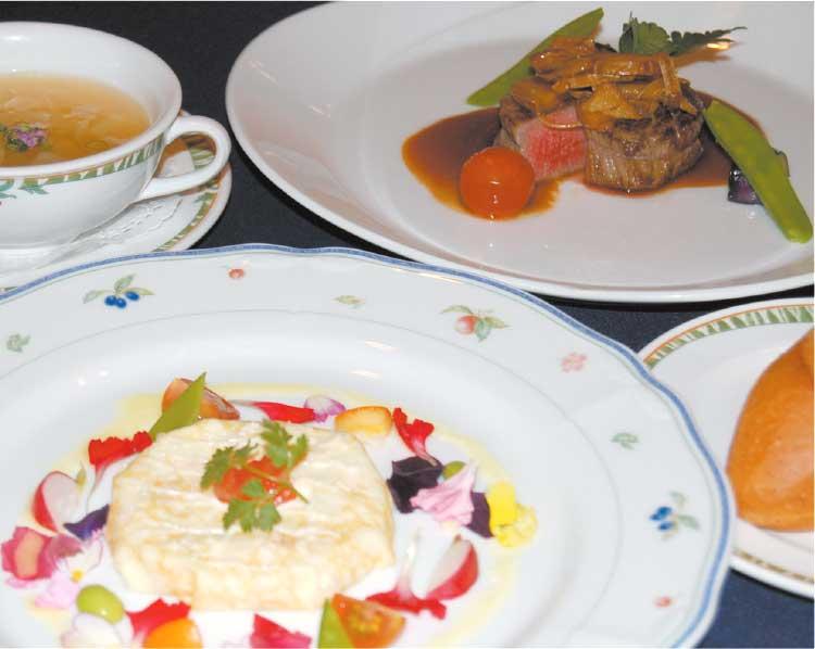 北海道ホテル内バード・ウオッチ・カフェのディナーコース料理