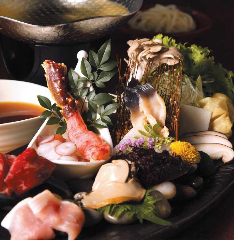 湯元啄木亭のコース料理