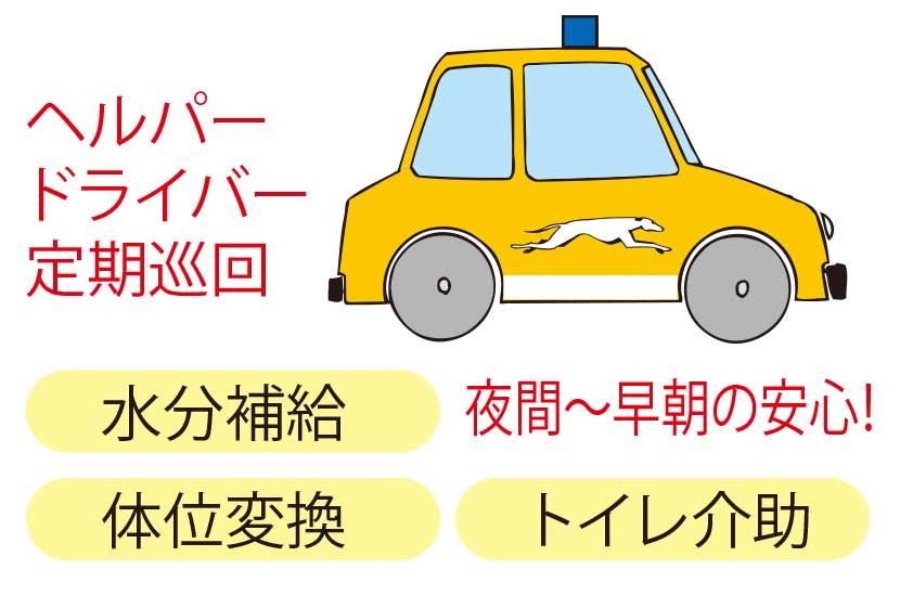 函館タクシーヘルパードライバーサービス一覧