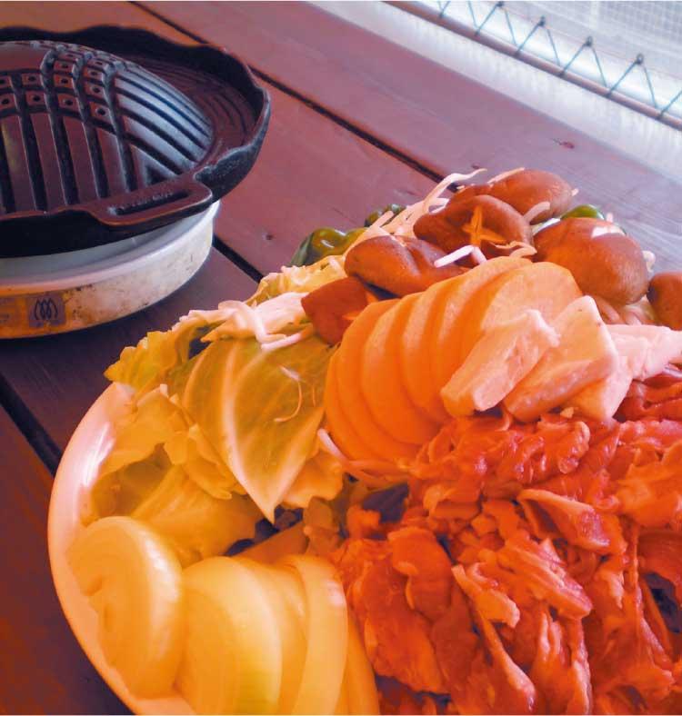 焼肉レストランキッチンもりもりの食べ放題ジンギスカンの料理