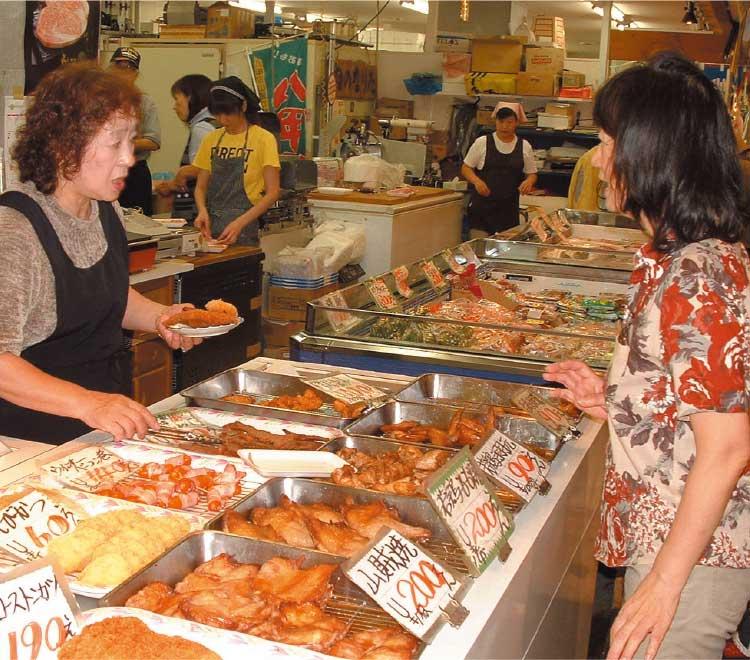 市場食堂の惣菜販売所