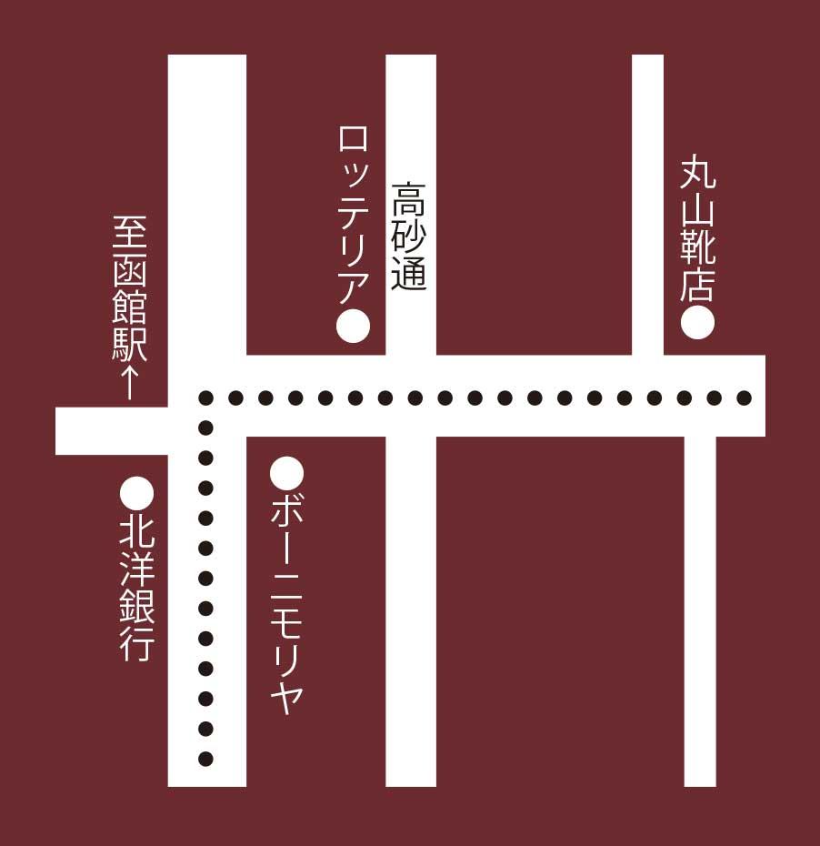 珈琲焙煎工房函館美鈴大門店周辺地図