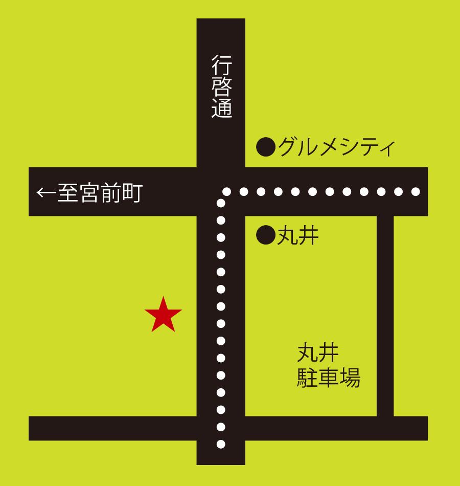 レストラン WHO周辺地図