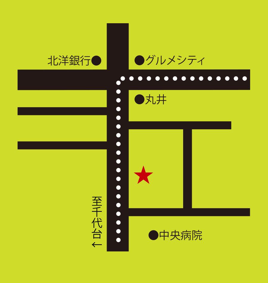 カフェルパン周辺地図