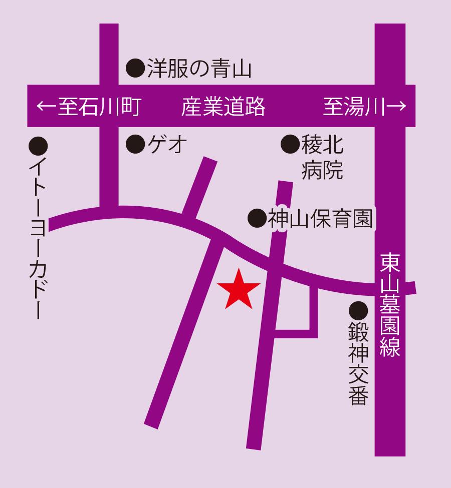 パンハウスシアン周辺地図