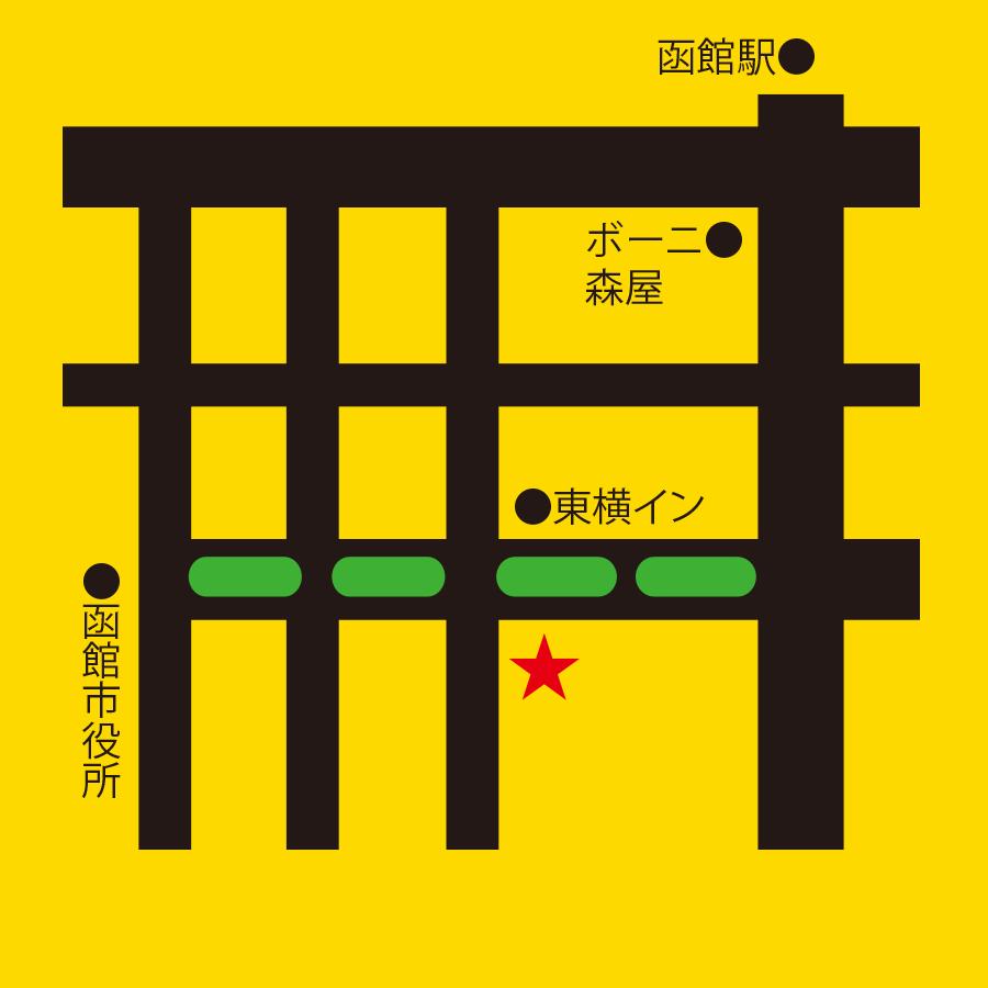 生ラムジンギスカン函館ビール園周辺地図