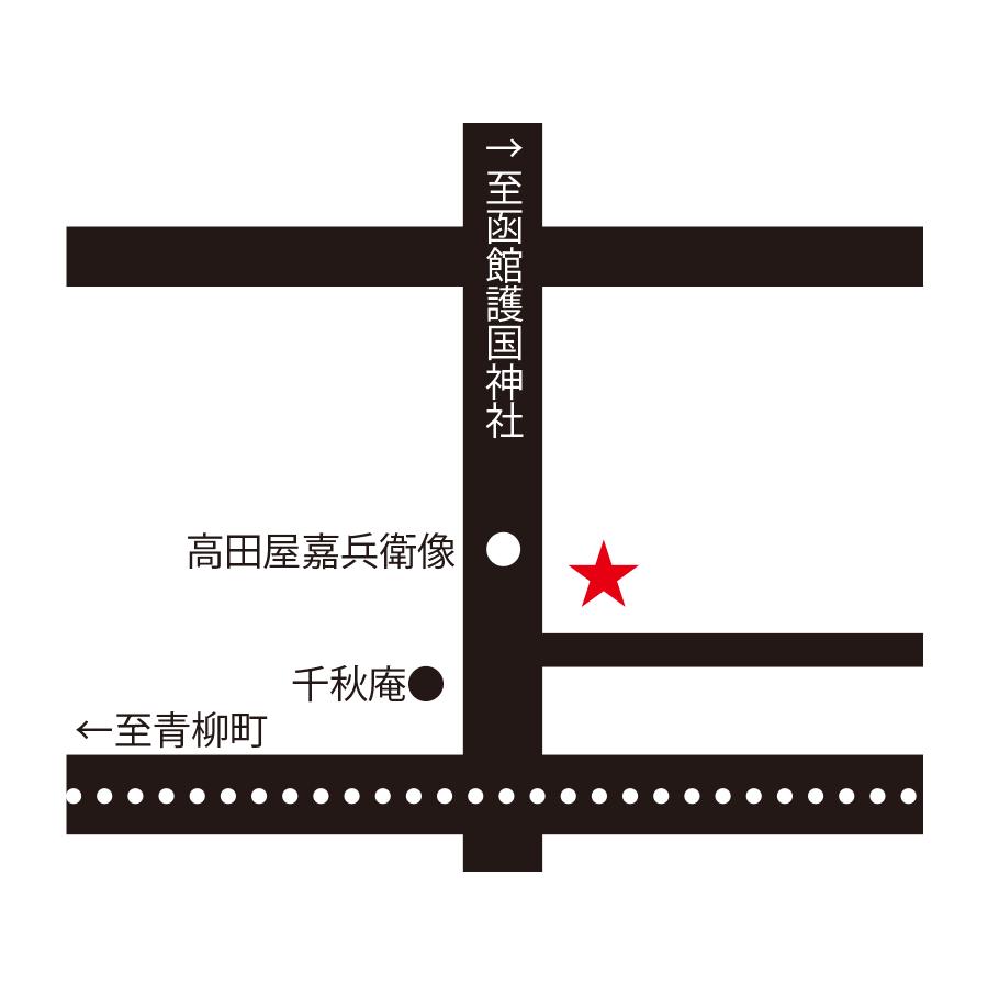 ビストロ・ボンザミ周辺地図