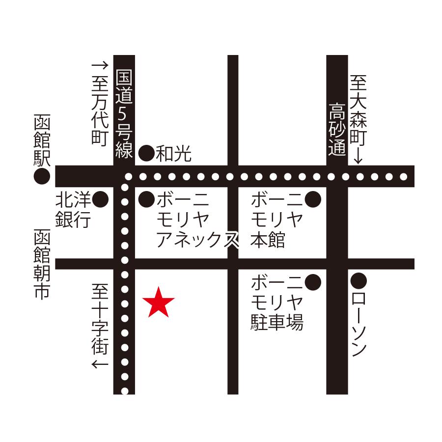 フィットネスホテル330函館周辺地図