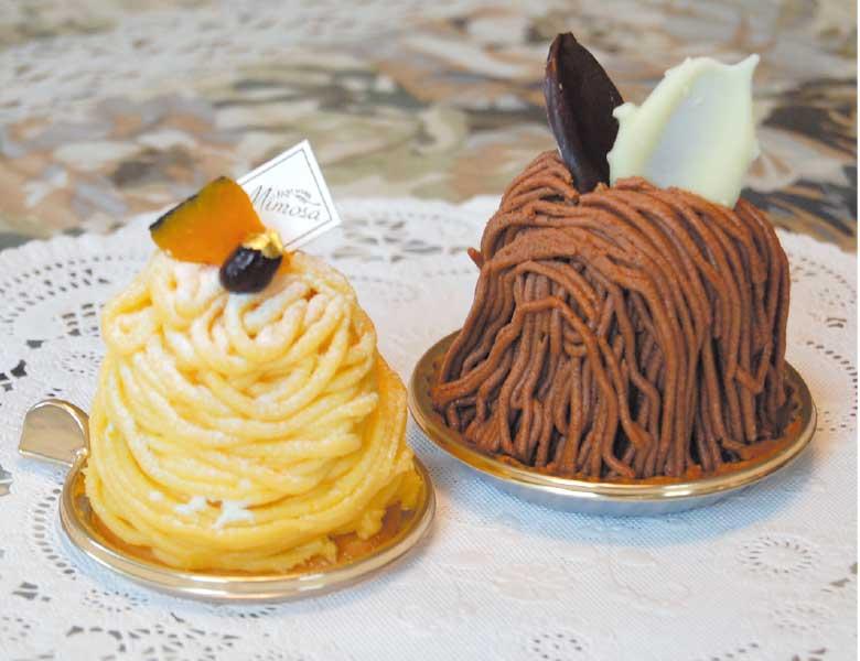 ミモザのモンブランショコラとかぼちゃのコンポート
