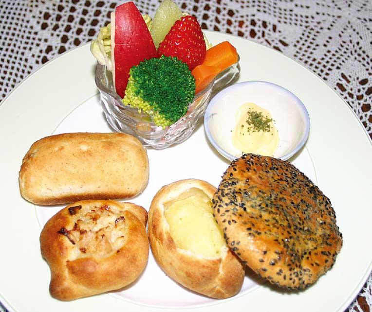 ピーベリーの手作りパン