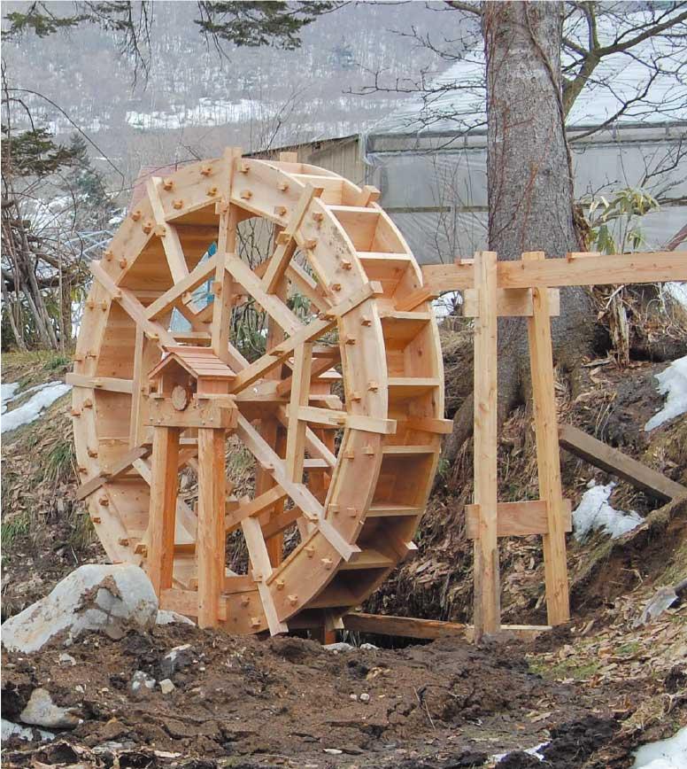 大沼ガロ・ハーブガーデンの水車