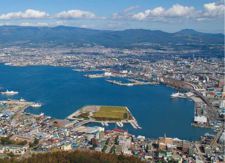 函館山から見た函館の街並み