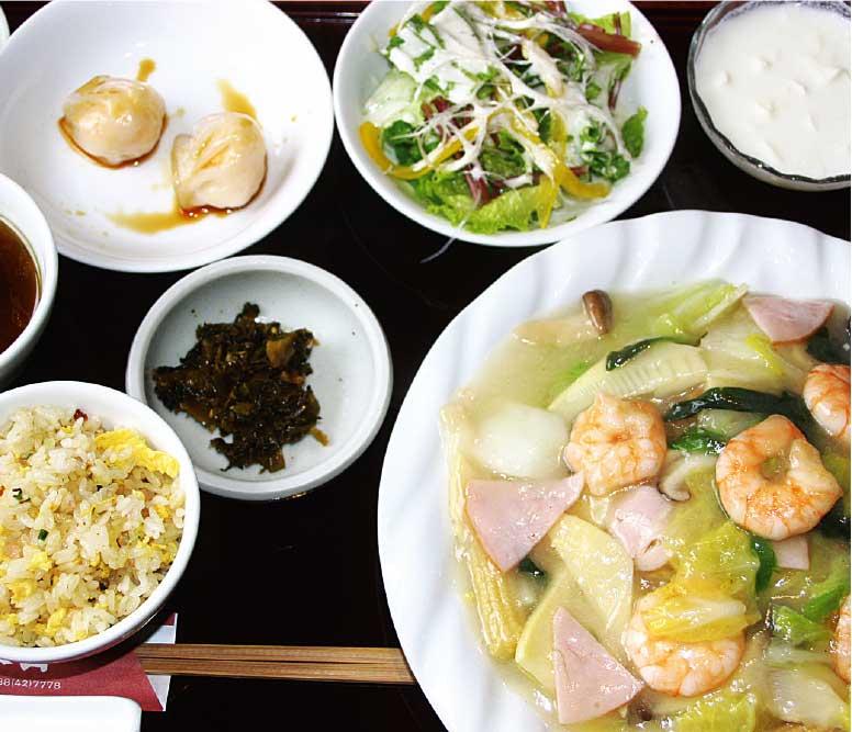 李太白の麺・飯チョイスランチの海老焼きそば