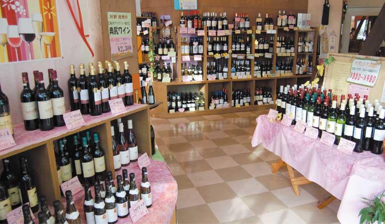 地酒・ワイン屋みのや店内