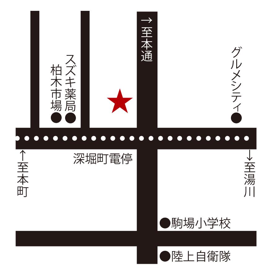 洋風居酒屋kumakichi食堂周辺地図