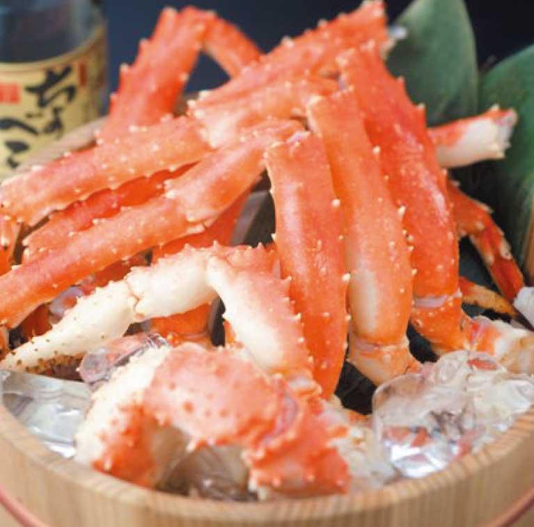 わいわい亭のタラバ蟹&ズワイ蟹の食べ放題の蟹