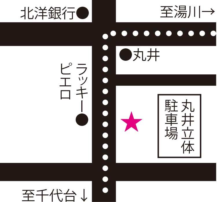 オールドニューカフェ周辺地図