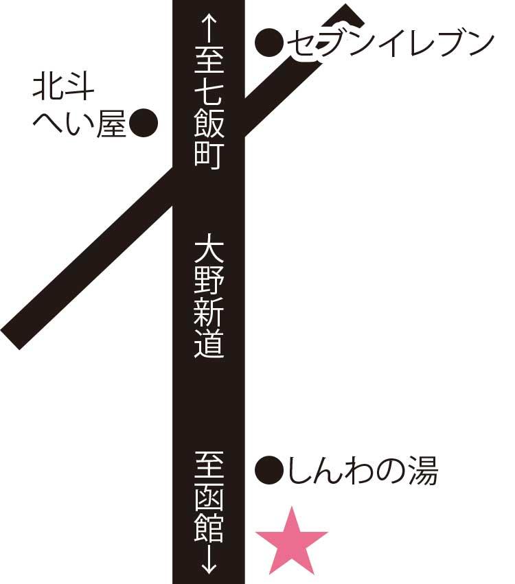 宮子さんの手作り工房周辺地図