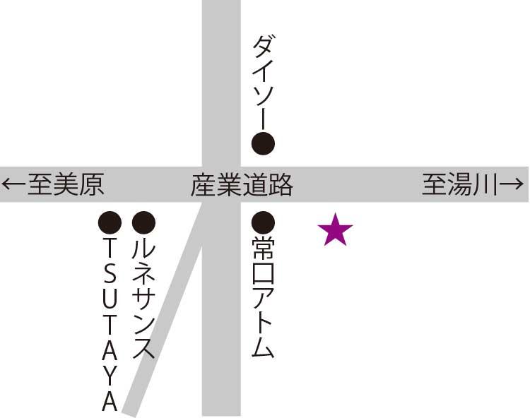 そば処大豊周辺地図