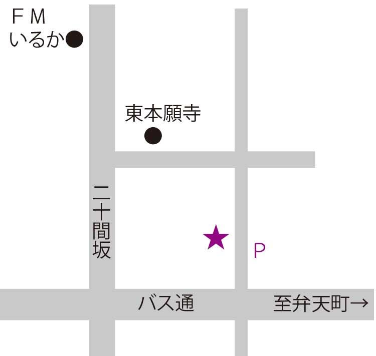 蕎麦彩彩久留葉周辺地図