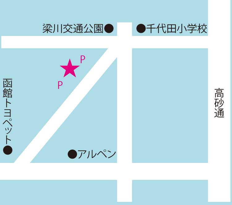プティ・コション周辺地図
