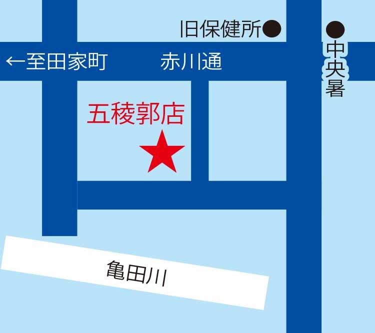 井口質店周辺地図