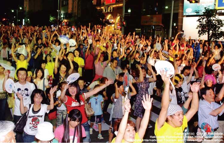 函館港まつりのいか踊り