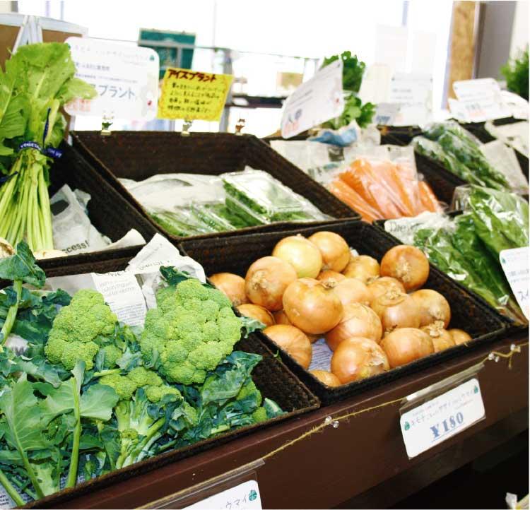 八百屋夢八の野菜コーナー