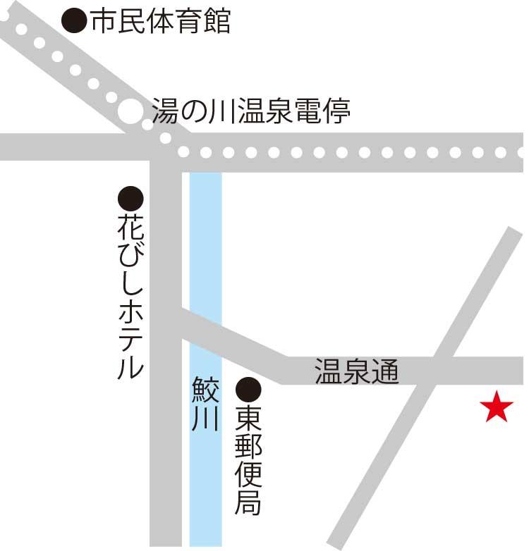 竹葉新葉亭周辺地図